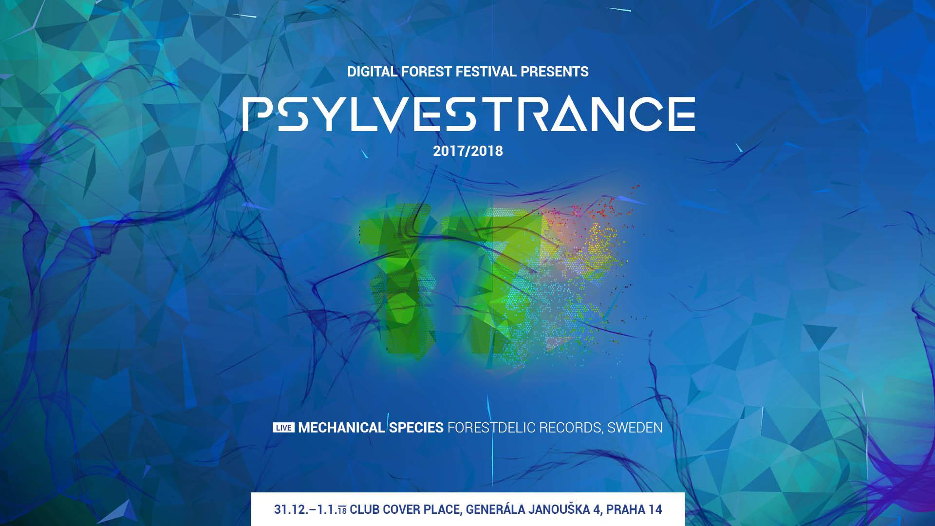 Digital Forest Festival presents Psylvestrance 2017/2018 flyer