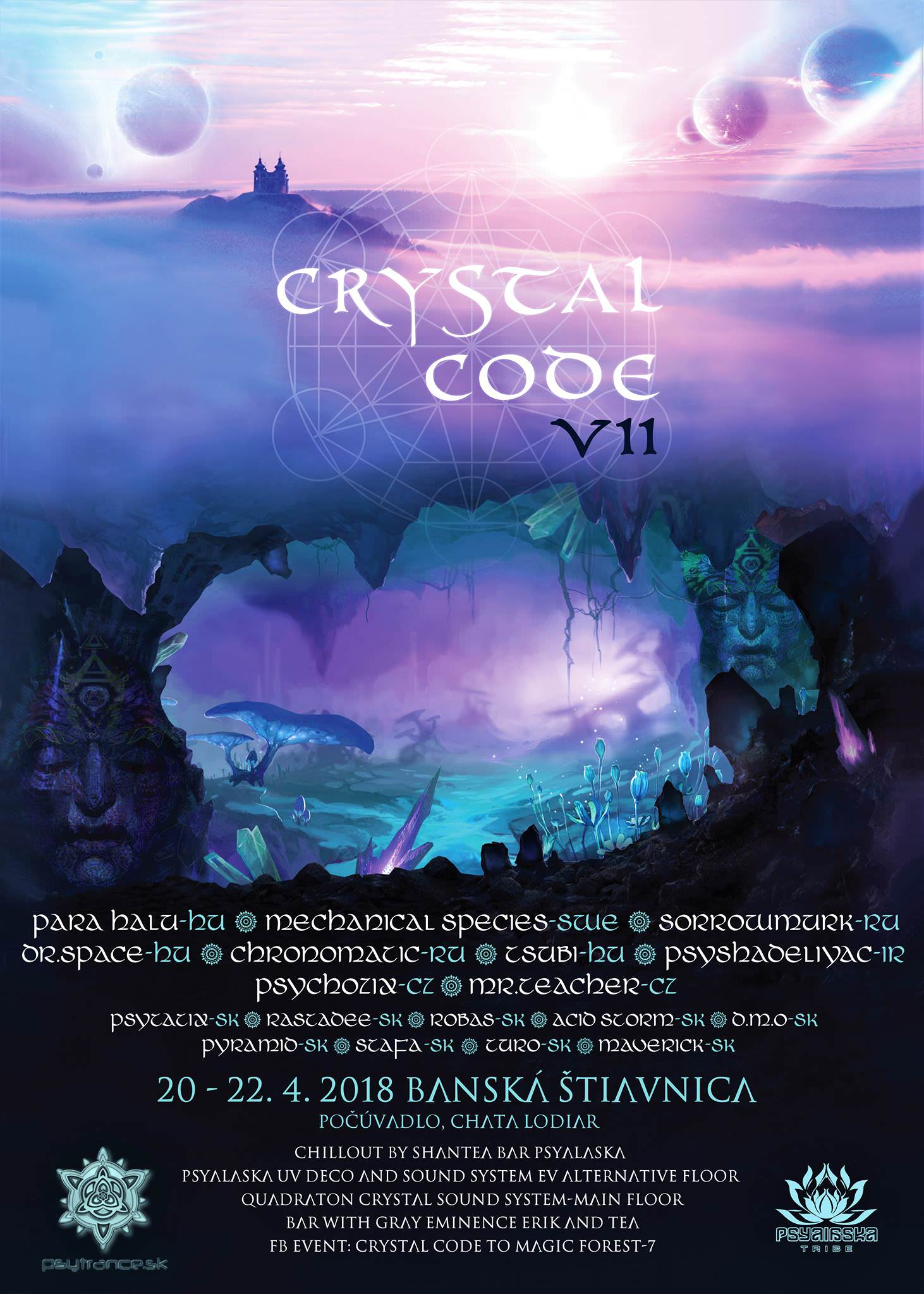 Crystal Code to magic forest 7 flyer